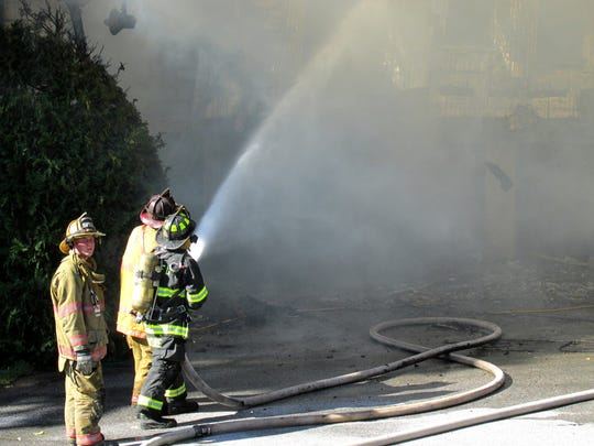 Fire crews from St. Albans City, Town and Swanton responded to a fully involved house fire on Maquam Shore Road Wednesday afternoon.