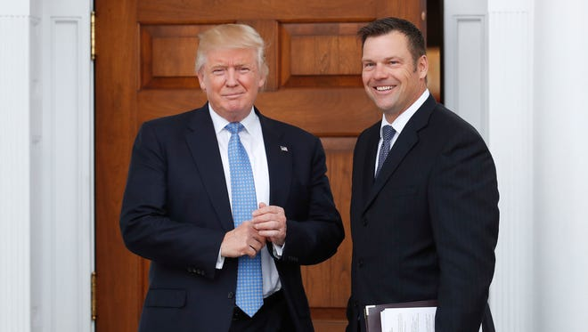 Kansas Secretary of State Kris Kobach met with then President-elect Trump after the presidential election to propose an investigation into voter fraud. Trump established a commission to investigate, but disbanded it Wednesday.