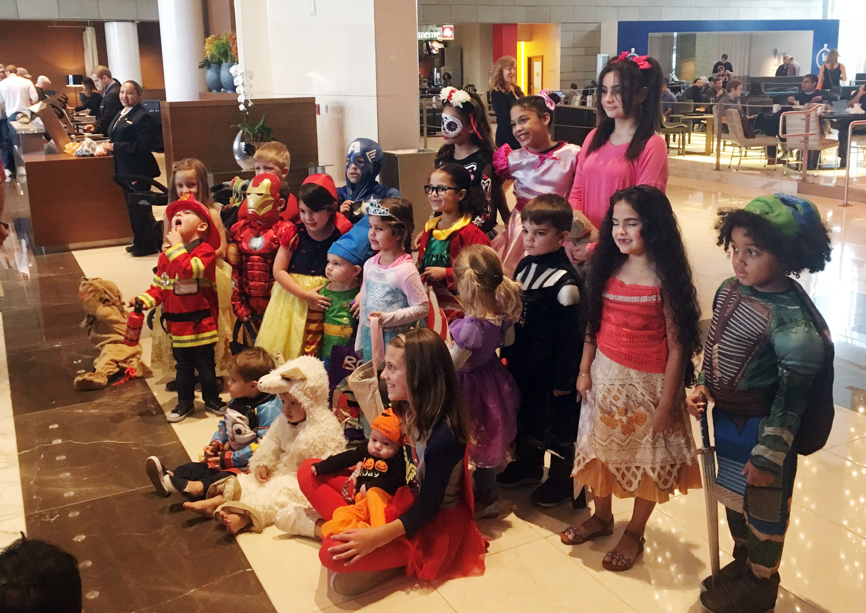 Children of the Houston Astros baseball team pose for a photo in Halloween costumes in the  sc 1 st  USA Today & Trick or treat: For Astros kids costumes before curveballs