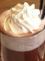 Hot cocoa from Woody's Library Restaurant