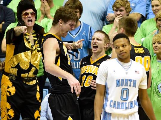 NCAA Basketball: Iowa at North Carolina