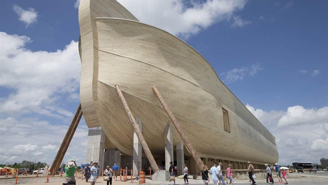 At the Ark Encounter in northern Kentucky, a replicaof Noah's Ark stands at515 feetlong, 85 feet wideand 51 feet high.