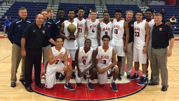 Blackman's boys basketball team won the N2HOOPS Invitational in Huntsville, Ala. on Wednesday.