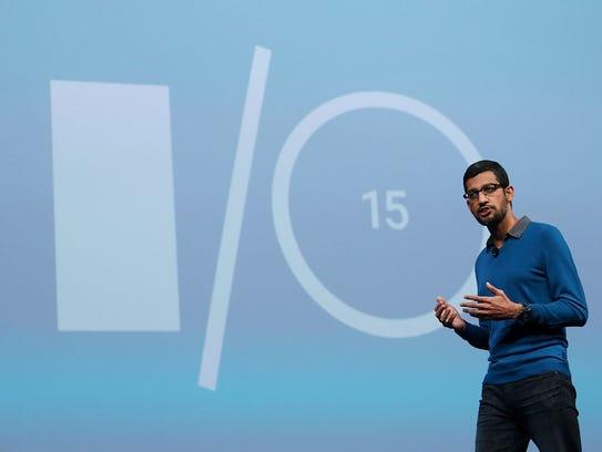 Google senior vice president of product Sundar Pichai