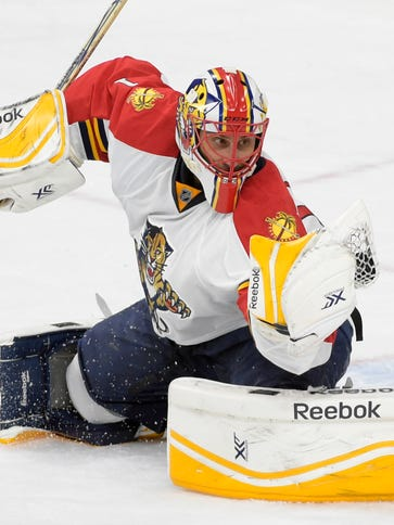 Florida Panthers goalie Roberto Luongo has a 2.24 goals-against