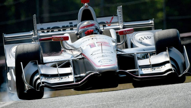 Will Power steers his car around the track at the Mid-Ohio Sports Car Course during Friday's morning session for the Honda Indy 200 at Mid-Ohio.