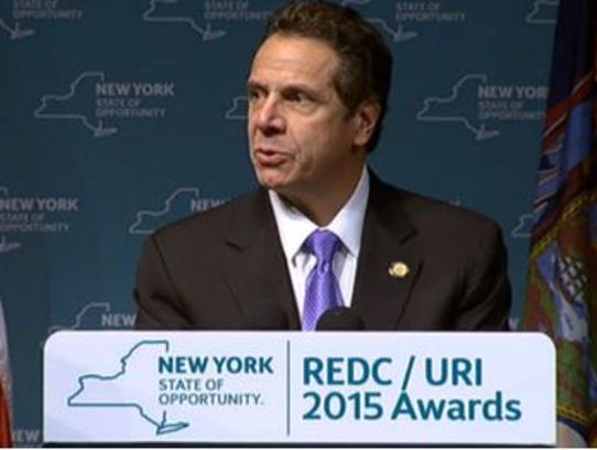 Gov. Andrew Cuomo, in announcing an Indian Point shutdown