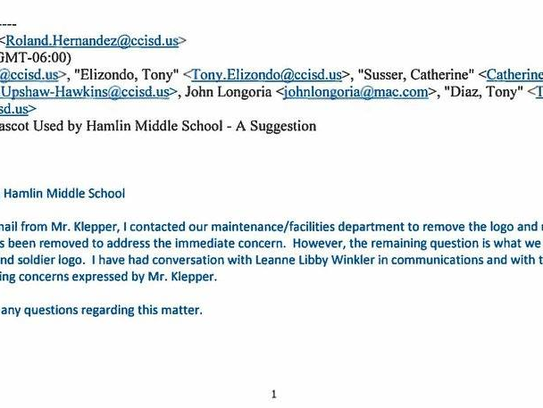 An email sent to the Corpus Christi ISD school board
