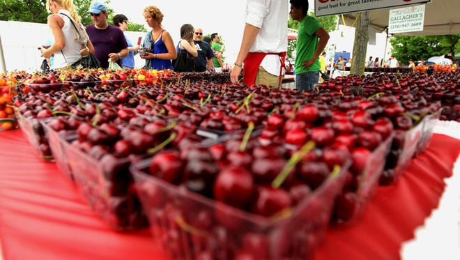 Fruit will be abundant on the  opening day of the National Cherry Festival in Traverse City.
