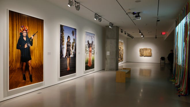 """A view of the exhibit by Andrea Bowers called """"Womxn Workers of the World Unite!"""" Bowers, a native of Wilmington, Ohio, is a Los Angeles-based artist who explores the intersection of art-making, social justice and political activism, according to the CAC."""