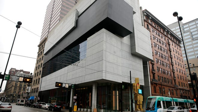The Contemporary Arts Center at East 6th Street and Walnut photographed Wednesday February 22, 2017. February 2017 marks the first anniversary of the CAC's free admission. The Downtown institution welcomed more than 136,000 people in the last fiscal year. That's compared to just over 48,000 for fiscal year 2014.