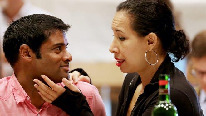 "Sean Pannikkar, portrays ""Rodolfo"" and Nicole Cabell, as ""Mimi"" during a rehearsal for Cincinnati Opera's production of LaBoheme."