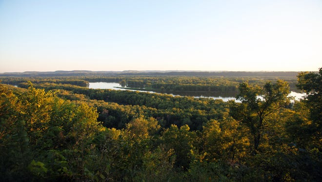 The Mississippi River flows beyond Nelson Dewey State Park outside Cassville.