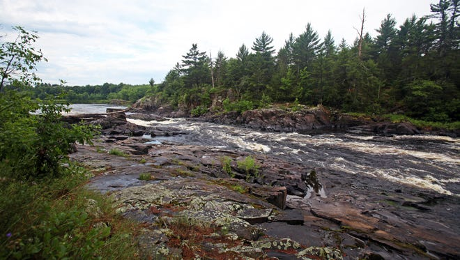 Pemene Falls is a small waterfall and set of rapids along the Menominee River between Michigan and Wisconsin.
