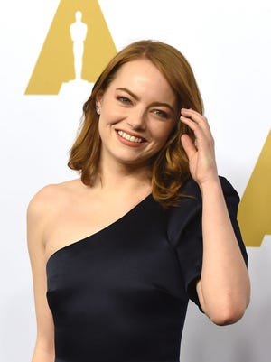 Actress Emma Stone attends the 89th Annual Academy Awards Nominee Luncheon at The Beverly Hilton Hotel on February 6, 2017 in Beverly Hills, California.