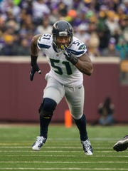 Bruce Irvin says his two biggest moments were winning a Super Bowl with the Seahawks and graduating from West Virginia University.