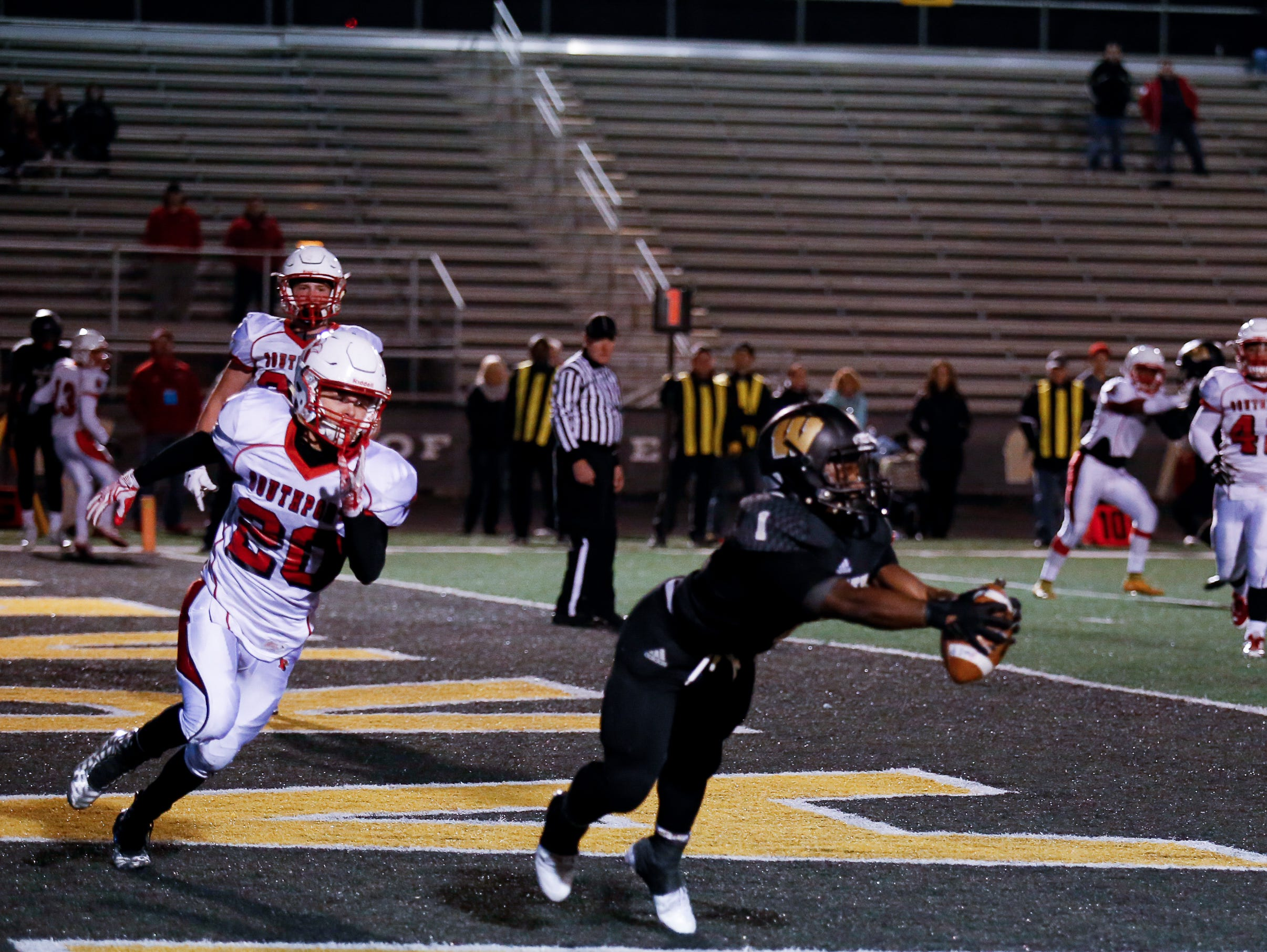 That man Jay Coe found the end zone again for the Warriors.