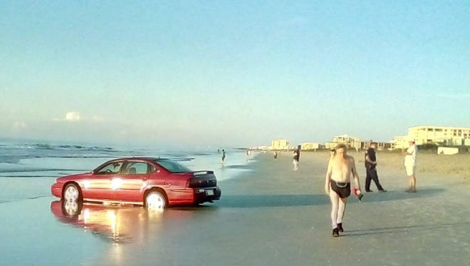 It's not the first time someone has tried to drive onto the Cocoa Beach sand. A man was arrested after getting his car stuck in the sand on Cocoa Beach here in 2017