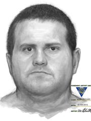 Evesham police released this sketch Thursday of a suspect in a recent lewdness incident.
