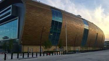 The new arena in downtown Milwaukee will open this fall. The Bucks and Marquette will play there.