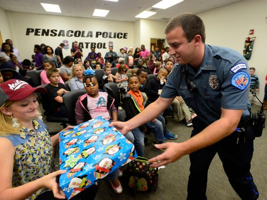 Pensacola Police Department children's Christmas
