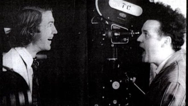"""David Lynch and Jack Nance during the making of 1977's """"Eraserhead."""""""