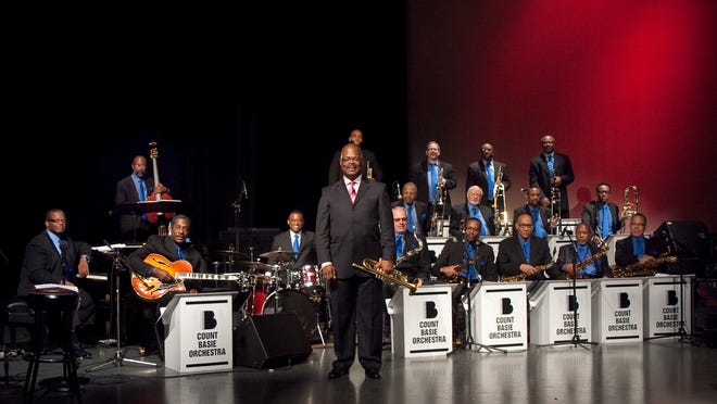 The Count Basie Orchestra, led by Scotty Barnhart, performs Monday at the McCallum Theatre.