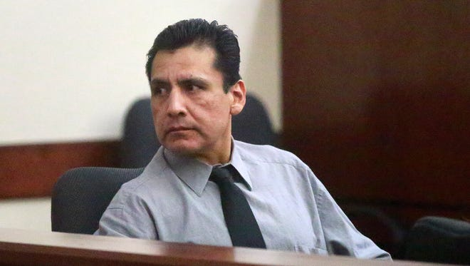 Emerson Happy is pictured Aug. 18 during his trial at the Eleventh Judicial District Court in Aztec.