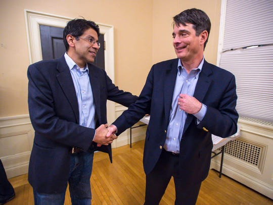 Faisal Nisar of ZRF Partners, left, and Todd Schurz