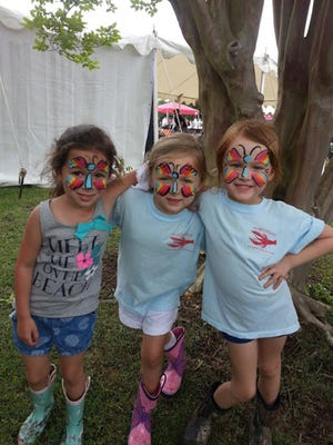 Face painting is always a hit with children and it thrilled several youngsters  in 2015.
