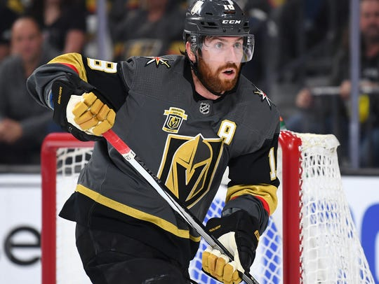 Chosen by the Vegas Golden Knights in the expansion draft last June, James Neal reached the 20-goal mark for the 10th consecutive season.