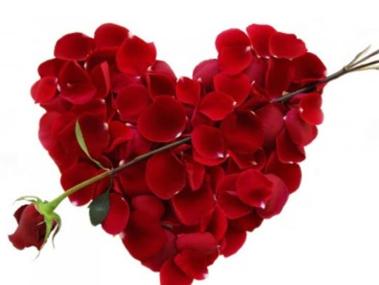 A creative Valentine bouquet.