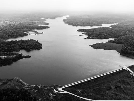 An aerial view of Carroll County Lake.