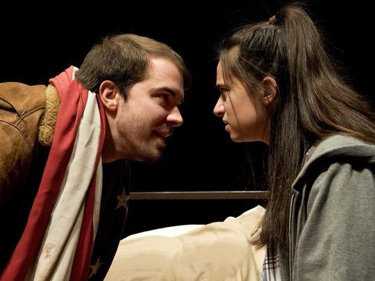 "Jeff Tagliaferro and Marisa Cartusciello star in the Binghamton University production of ""A Lie of the Mind."""