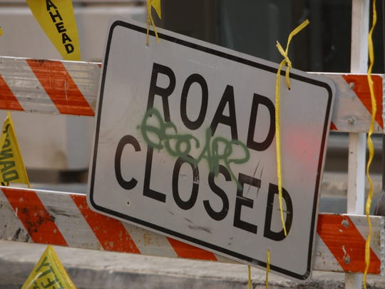 A file photo of a road closure sign. Minister Road will be closed from Jan. 6 through early summer as crews replace an aging bridge located over East Walker River, just south of Yerington, according to the Nevada Department of Transporation.