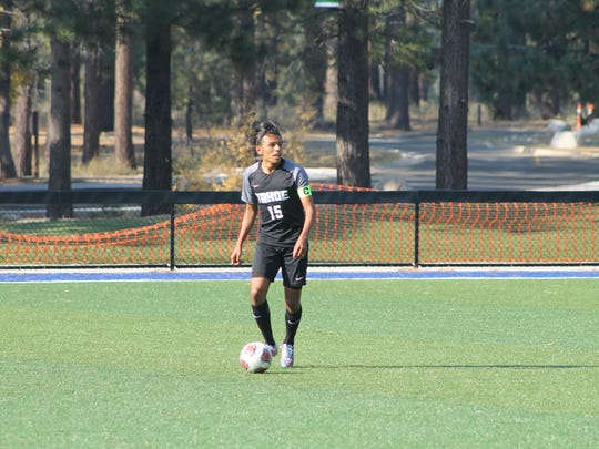 Spanish Springs graduate David Trujillo plays on the Lake Tahoe men's soccer team.