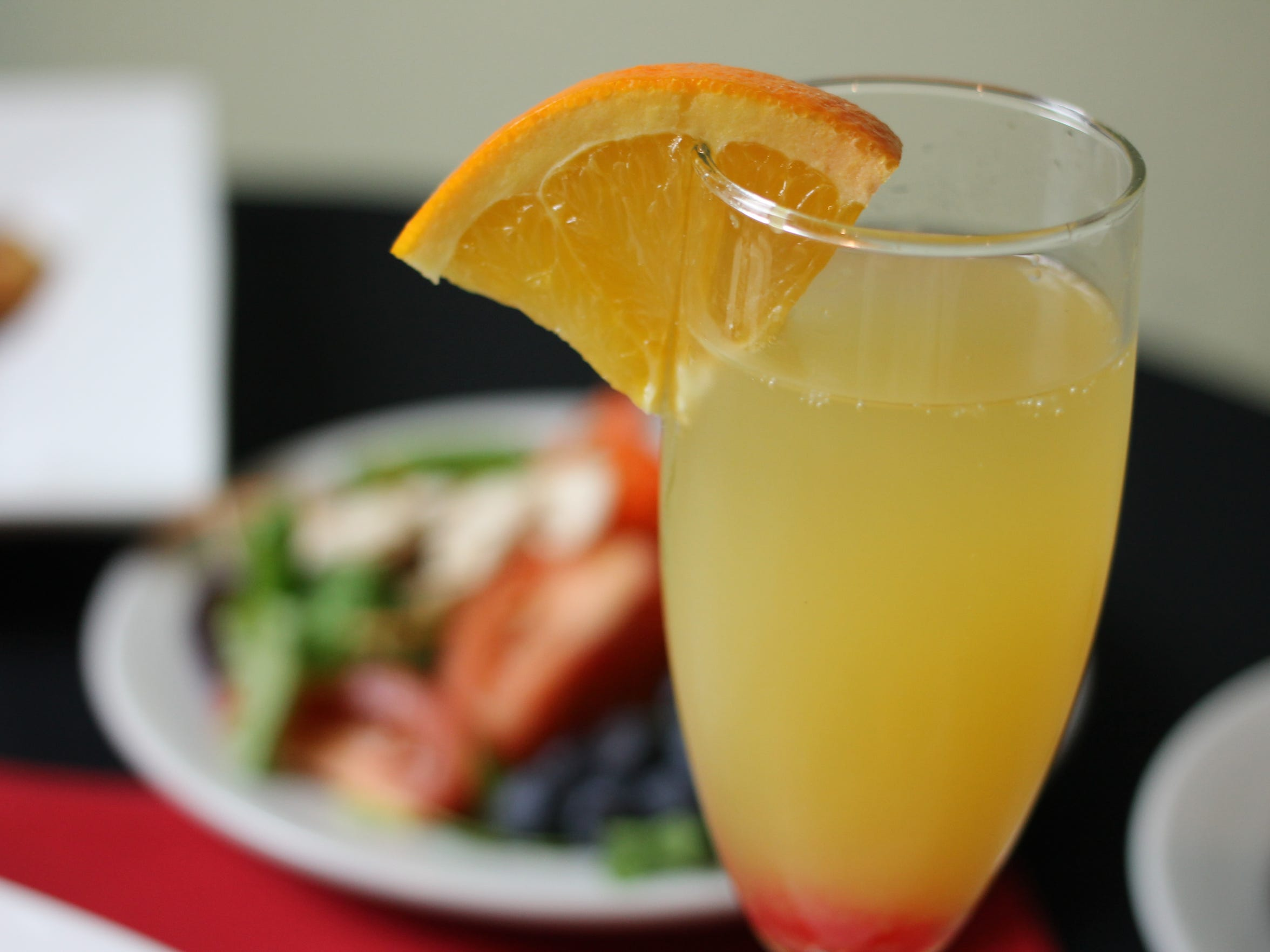 Mimosas are $1 during brunch at Ara's Restaurant, Banquet & Bar.