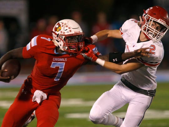 Webb City's Durand Henderson carries the ball downfield