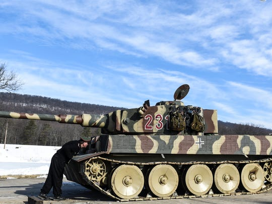 A replica Tiger Tank at Ft. Indiantown Gap at the annual Battle of the Bulge event on Saturday, Jan. 30, 2016 held by the World War II Historical Association.