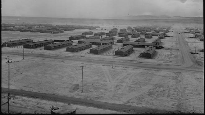 This photograph of the Topaz War Relocation Center near Delta was taken in 1943.