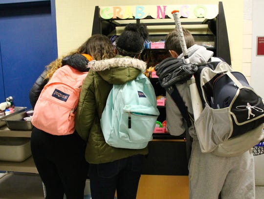 The Colonial School District has grab-and-go kiosks
