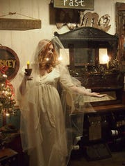 Christmas Past in the Christmas Carol-themed display