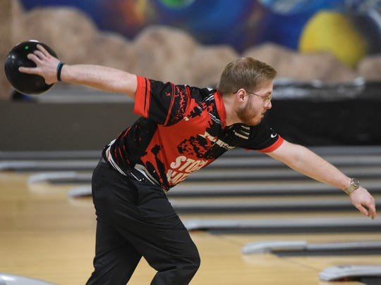 Brady Stearns bowls last year at Southway Bowl in St. Cloud.