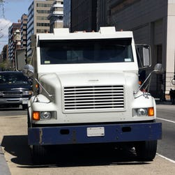 A thief in downtown Detroit walked away with more than $500,000 from a Loomis Armored truck parked outside a casino.