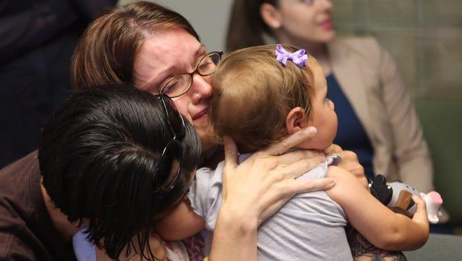 SCOTUS marriage plaintiffs Kelly McCracken and Kelly Noe of Kentucky react to SCOTUS decision to allow gay marriage Friday.
