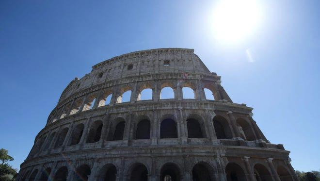 The Colosseum in Rome in April 2016.