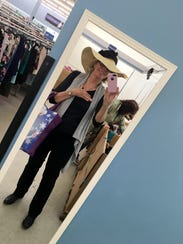 Ms. Cheap took a selfie with an $80 Lauren hat at the