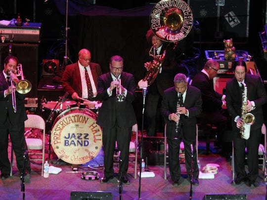 The Preservation Hall Jazz Band, seen performing in 2013 at Asbury Park's Paramount Theatre.