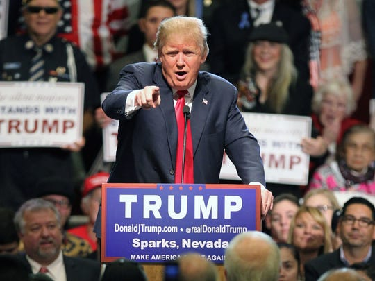 Donald Trump in Sparks, Nev., on Oct. 29, 2015.