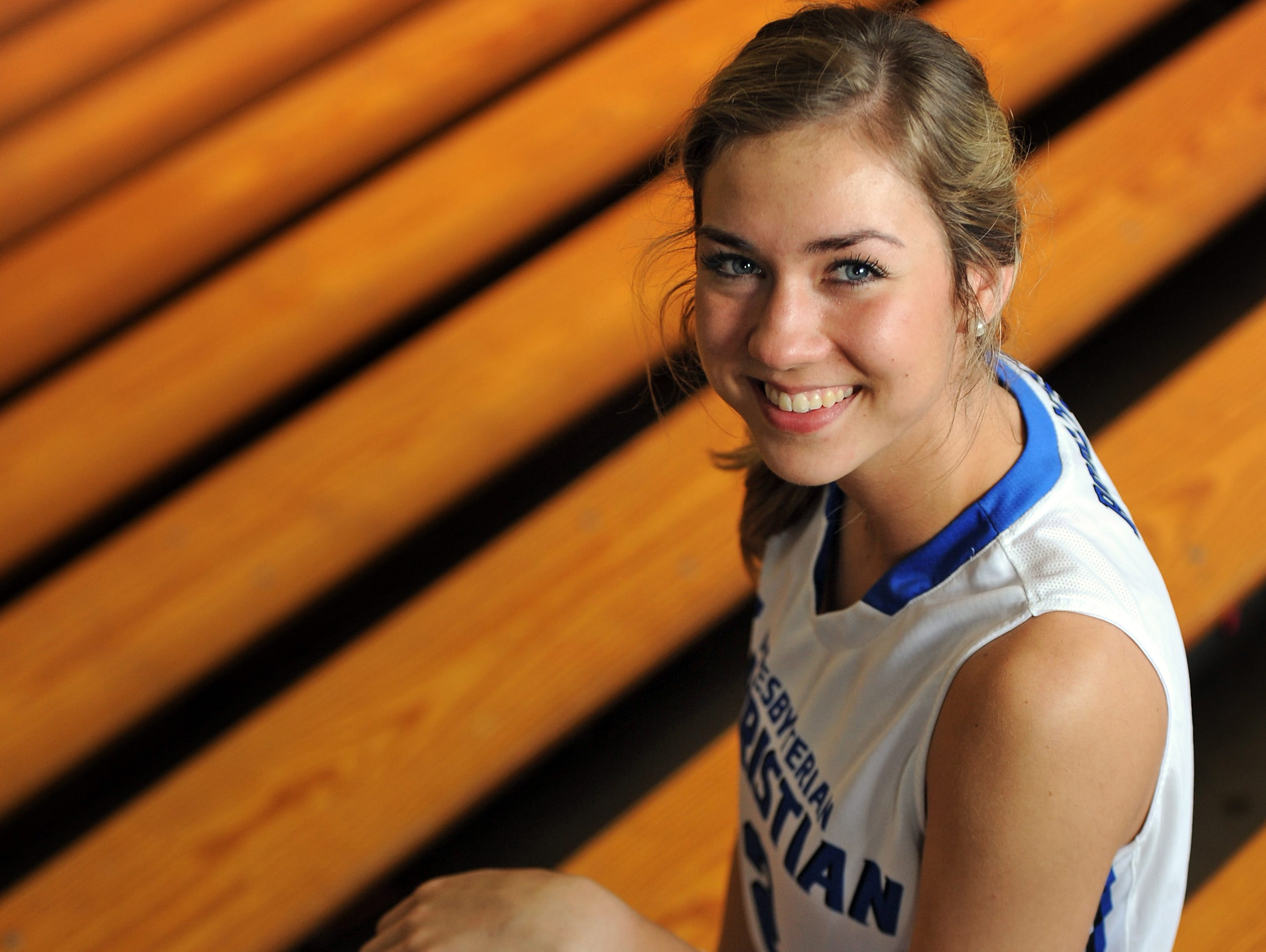 Trista Magee, 18, a senior at Presbyterian Christian School, is this year's Girl Basketball Player of the Year.
